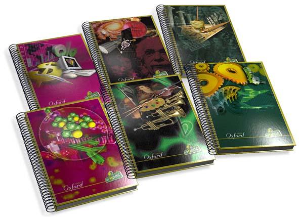 Ilustraciones - Tapas de cuadernos línea estudiantil y docente.